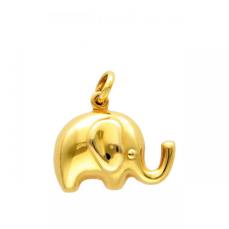 Ciondolo elefante oro giallo
