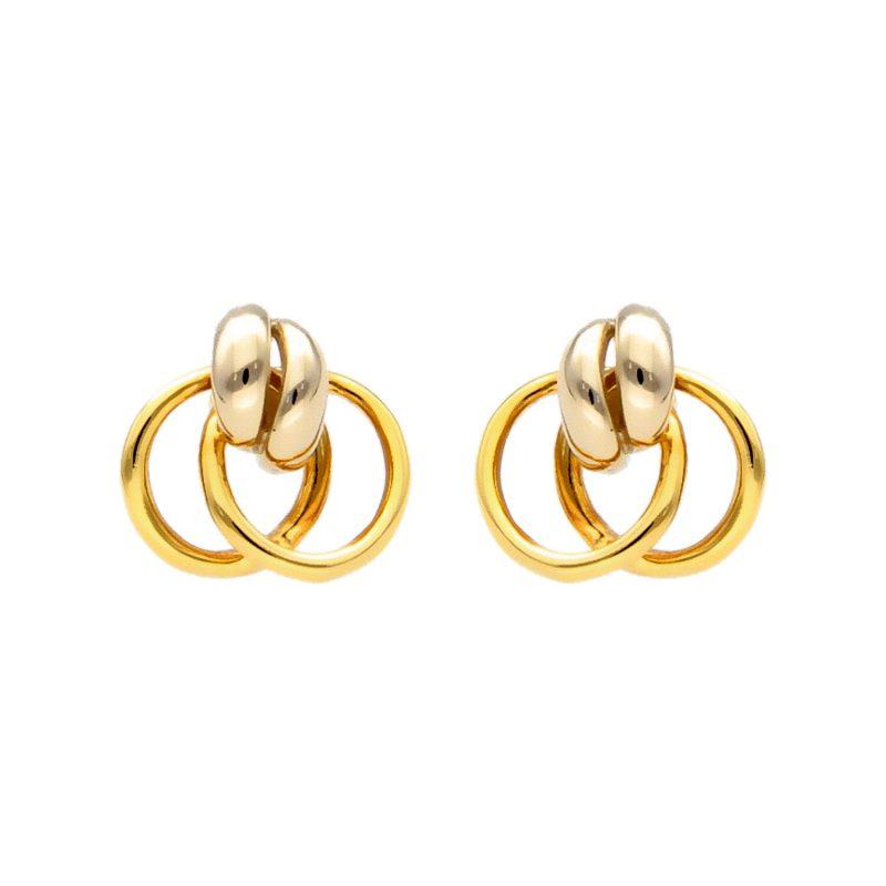 Ohrringe aus Weiß- und Gelbgold
