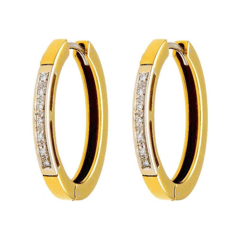 Pendientes Recarlo oro amarillo y blanco con diamantes