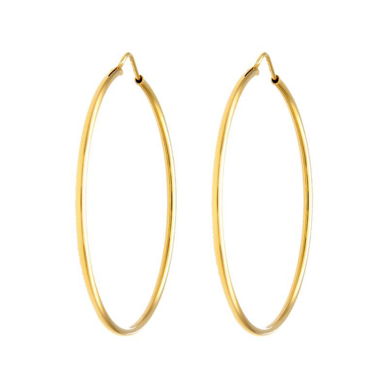 Kreis -Ohrringe aus Gelbgold