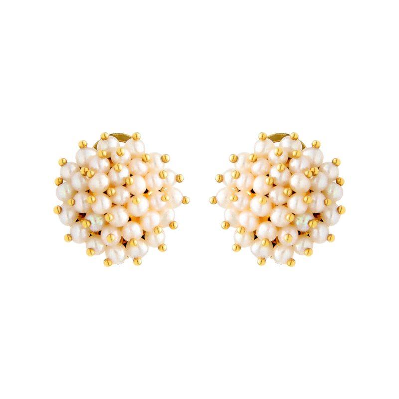 Pendientes oro amarillo con perlas