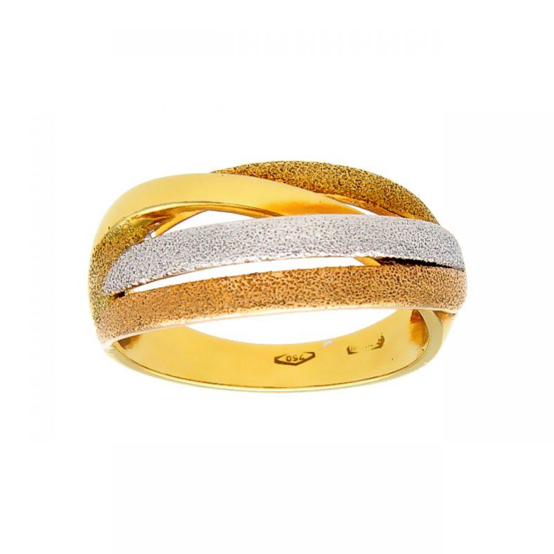 Weiß- Gelb- Rosègold Ring