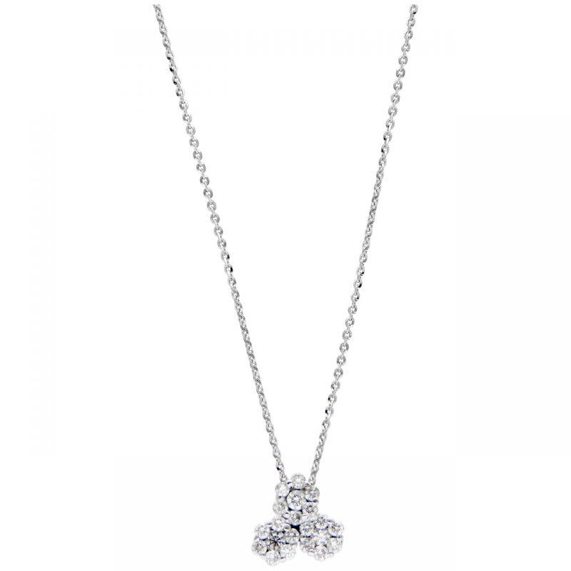 Cadena oro blanco con diamantes