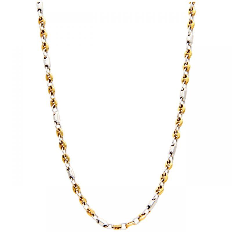 Collana oro giallo e bianco
