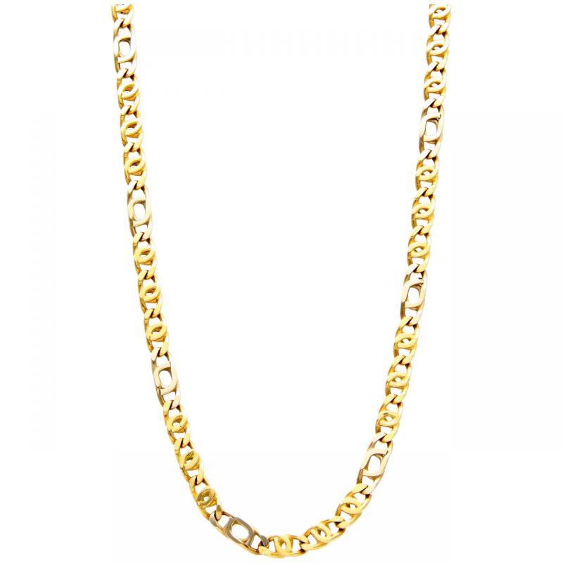 Gelb und Weißgold Halskette