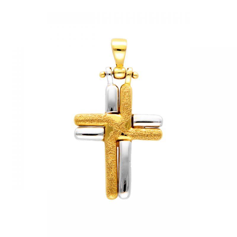 Colgante Cruz dos oros