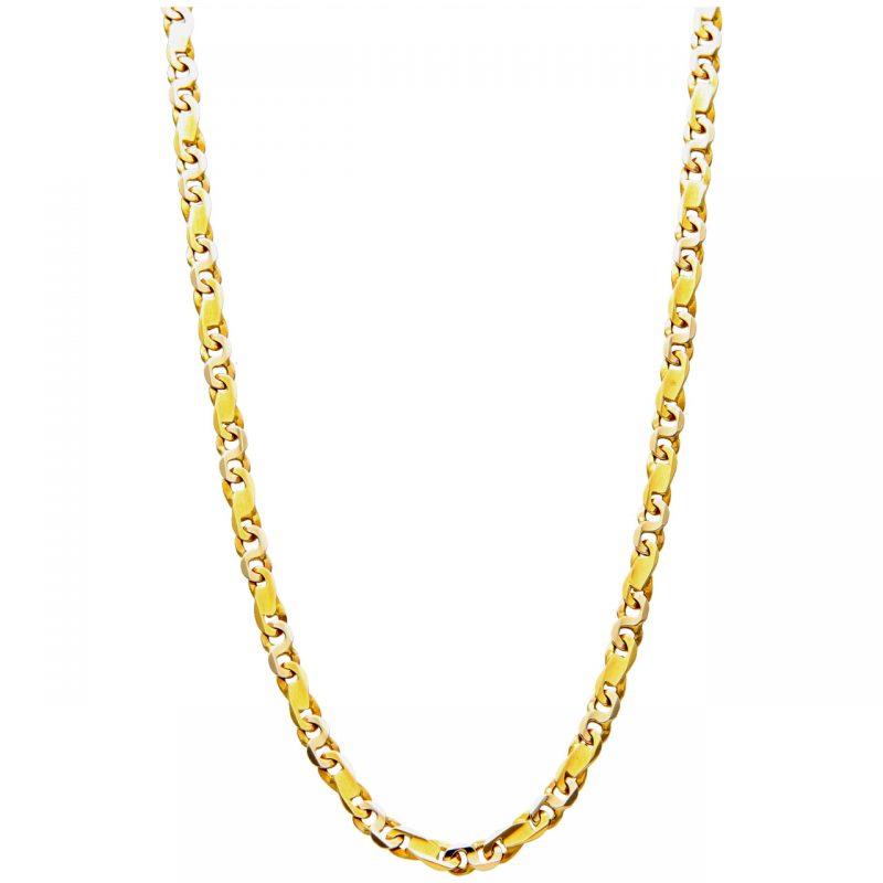 Collana Oro Azzurro in oro giallo e bianco