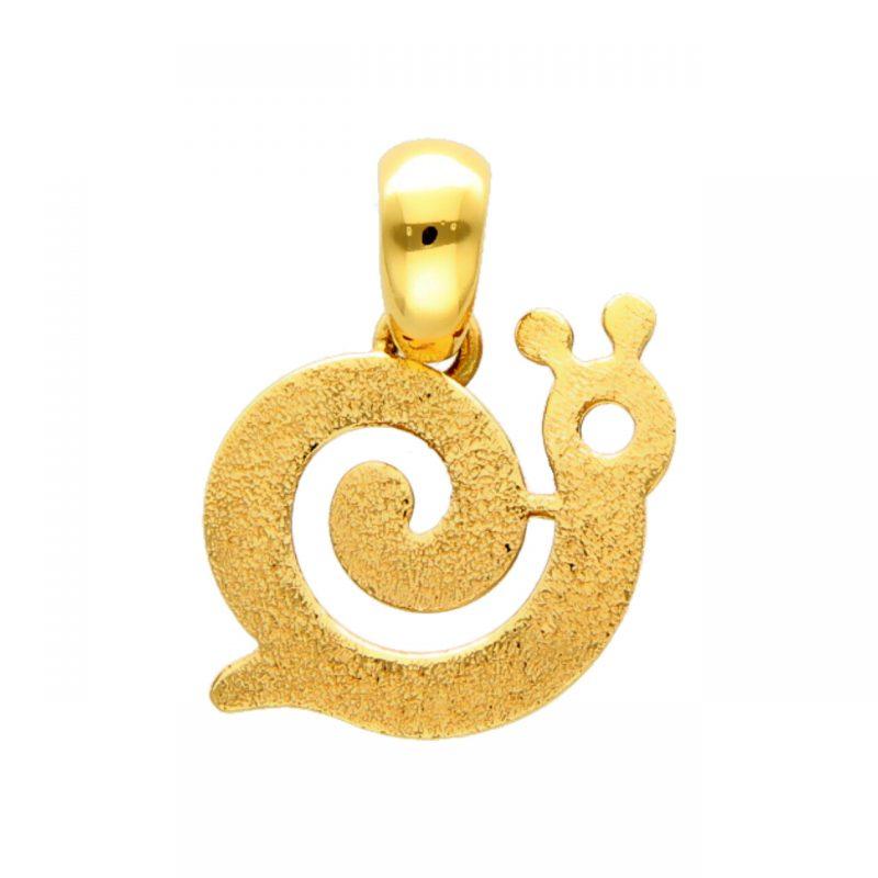 Snail pendant yellow gold