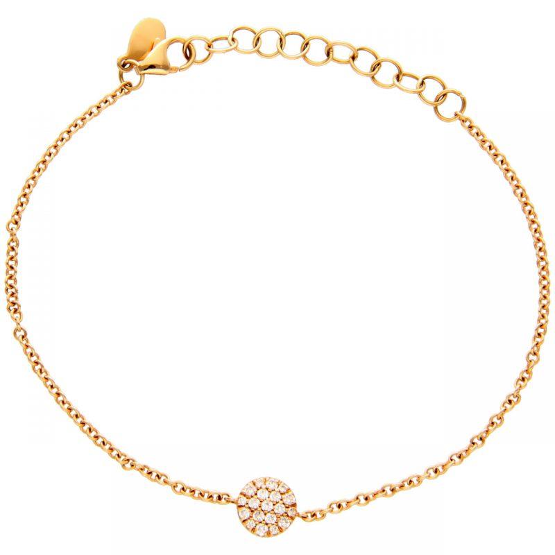 Rosègold Armband mit Diamanten