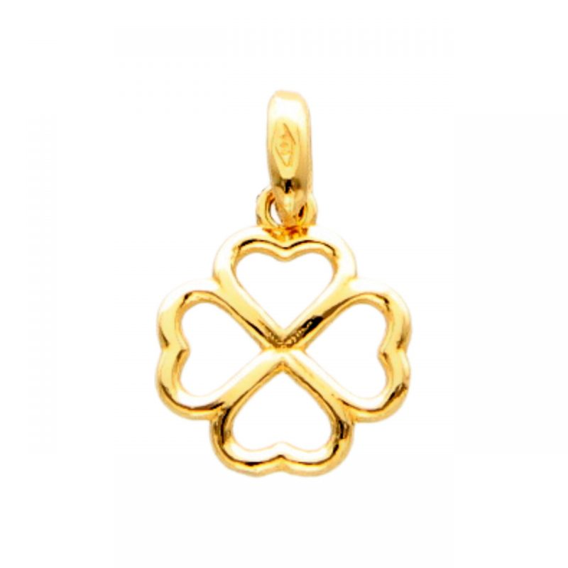 Four-leaf clover Pendant yellow gold