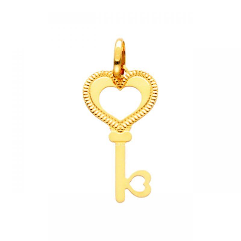 Schlüssel-Anhänger aus Gelbgold