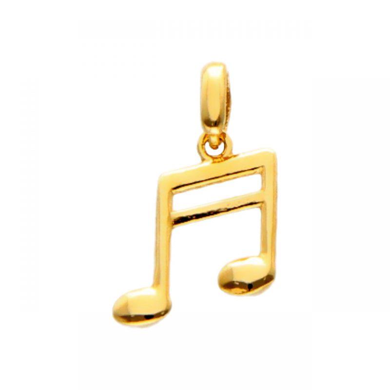 Ciondolo Nota musicale oro giallo
