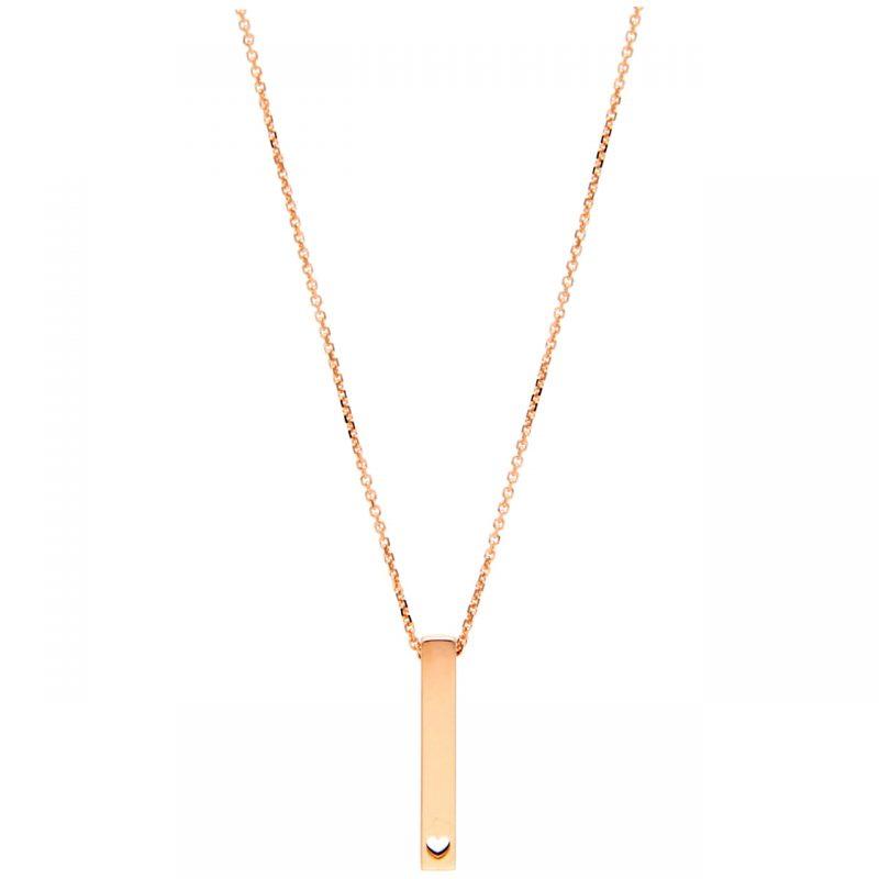 Collana con pendente love oro rosa