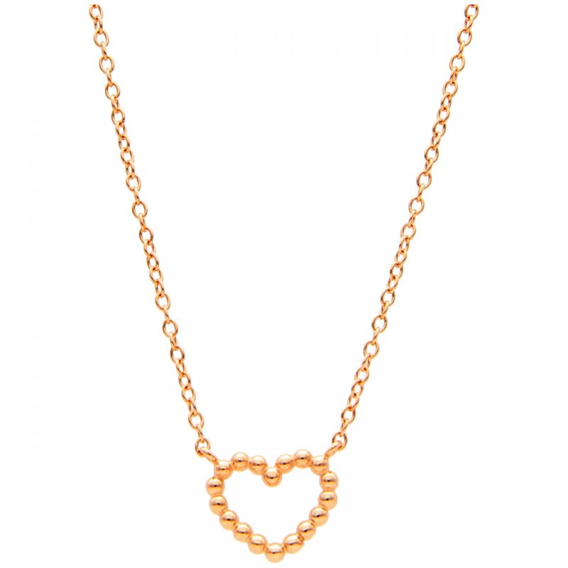 Rose Gold Necklace with Heart Pendant