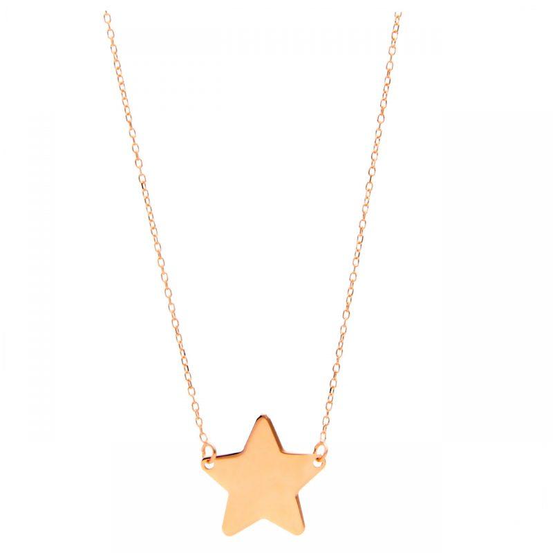 Cadena estrella oro rosa