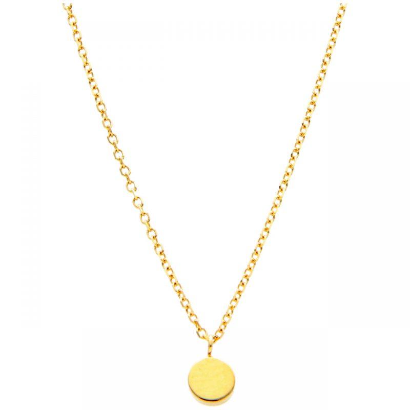 Gelbgold Halskette mit Knopf