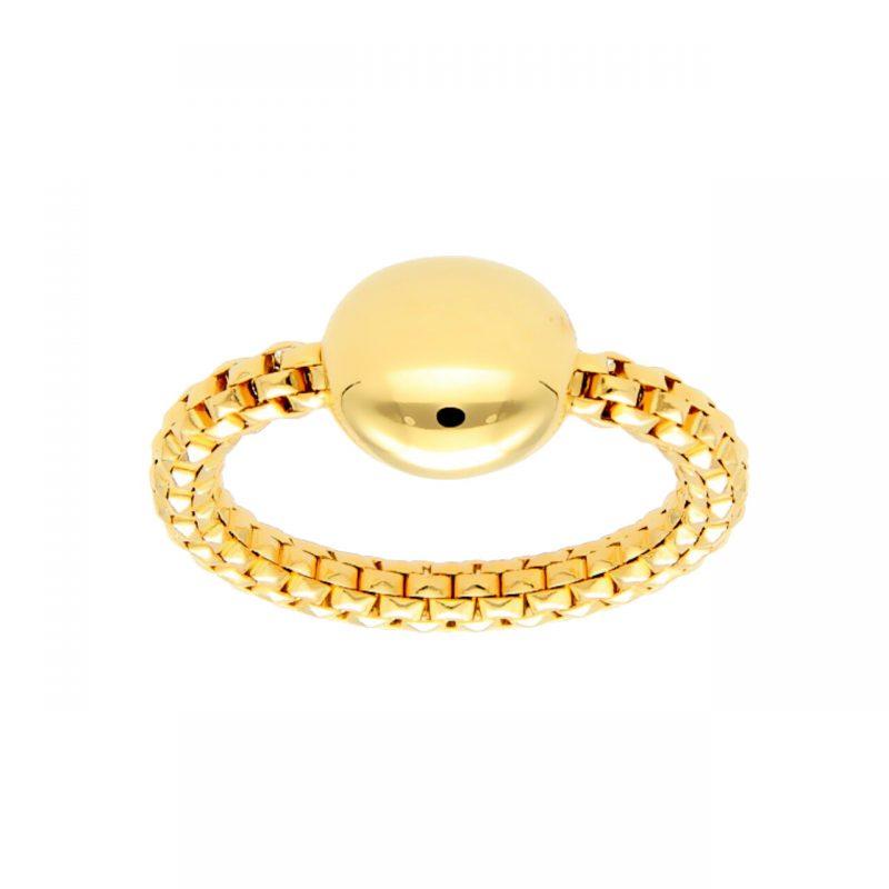 Elastisch Ring aus Gelbgold