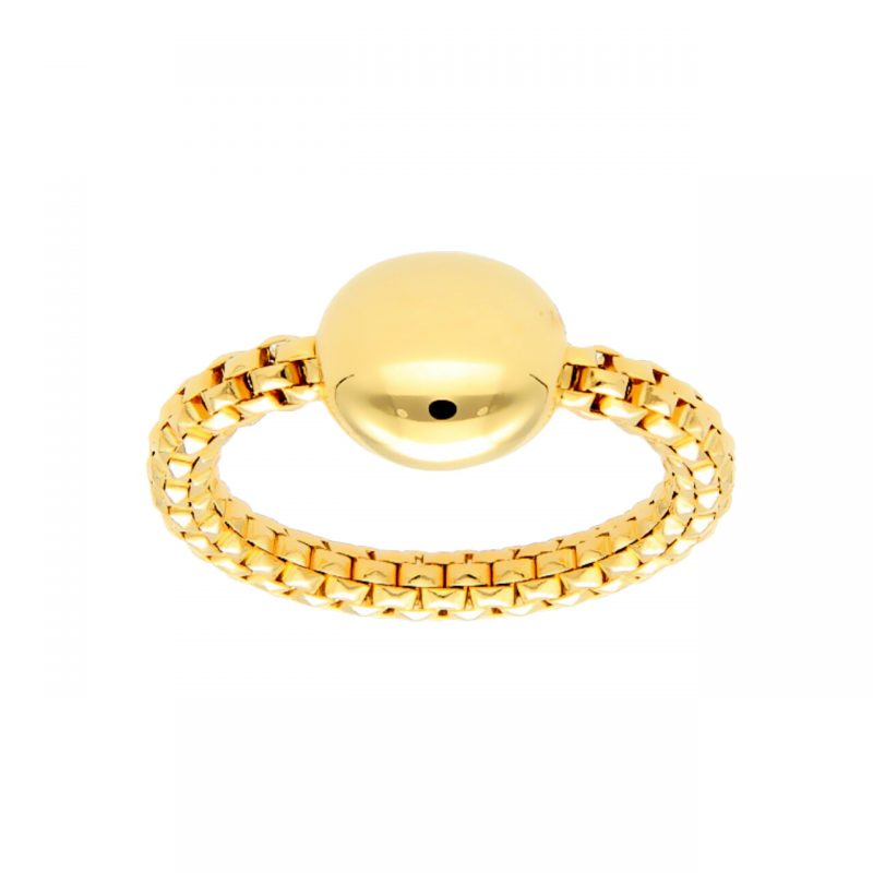 Elastic Ring one size yellow gold