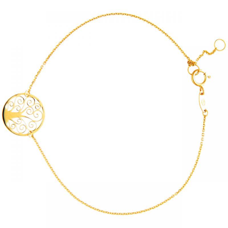 Armband aus Gelbgold Baum des Lebens