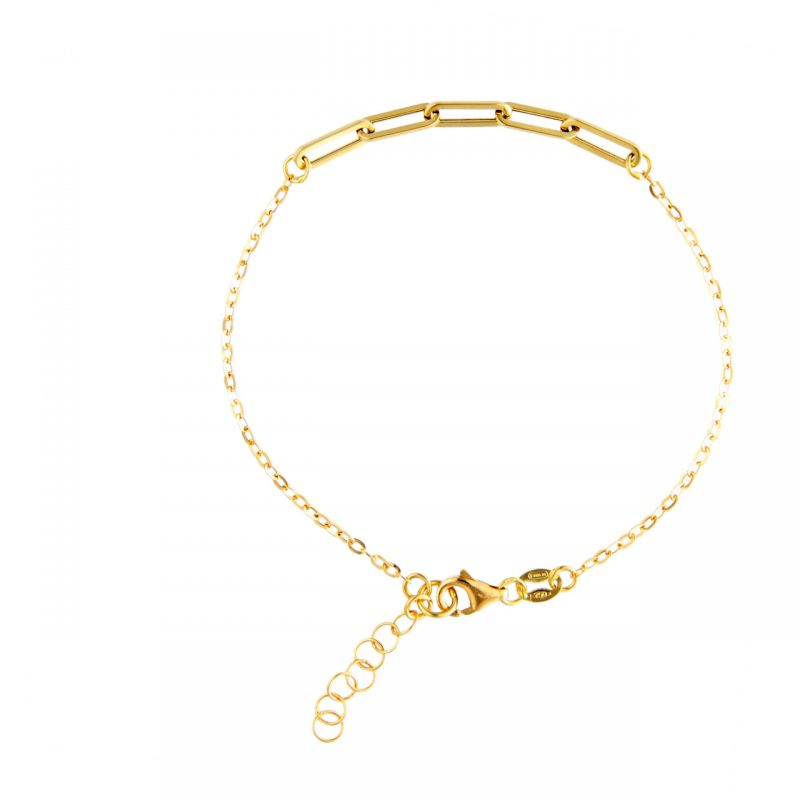 Yellow gold bracelet lineal