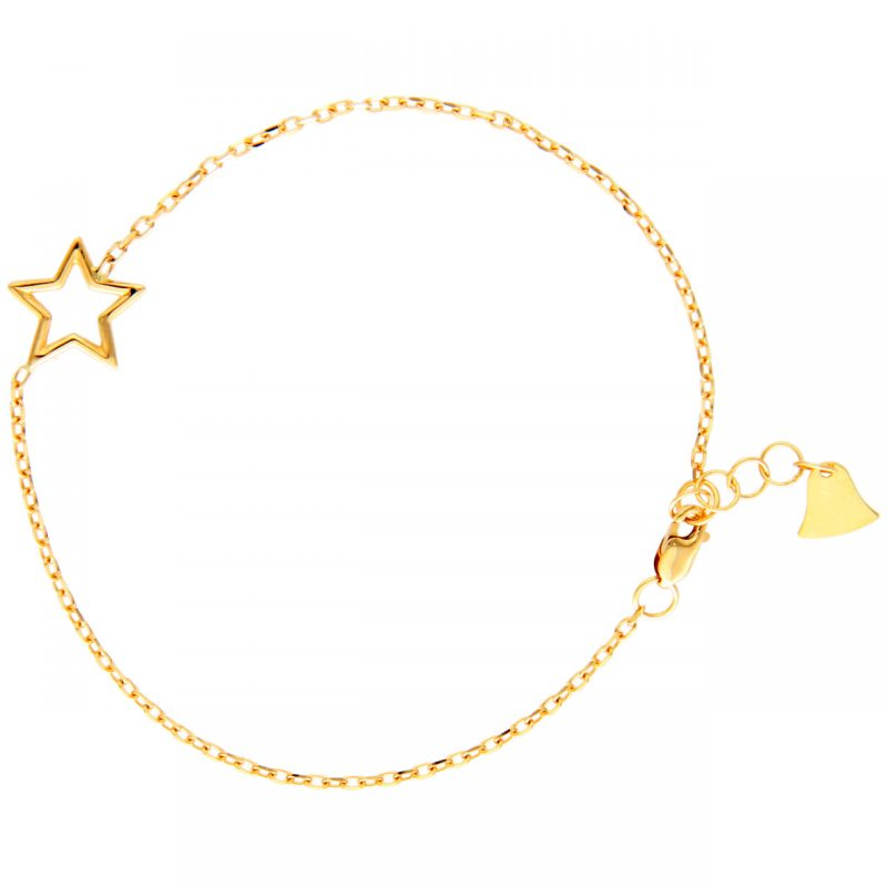 Yellow gold bracelet with star