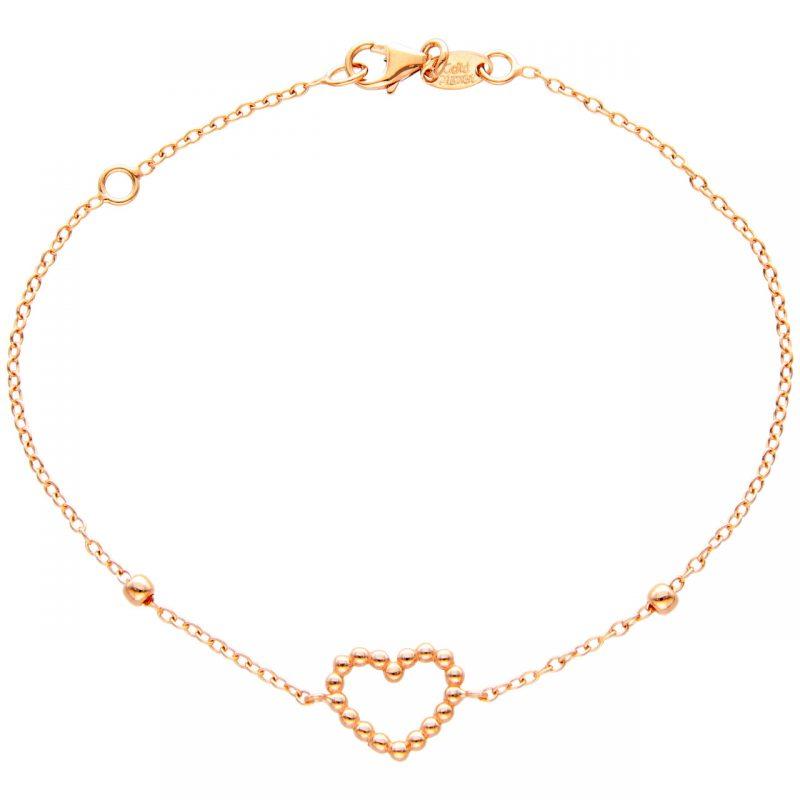 Bracelet with heart rose gold