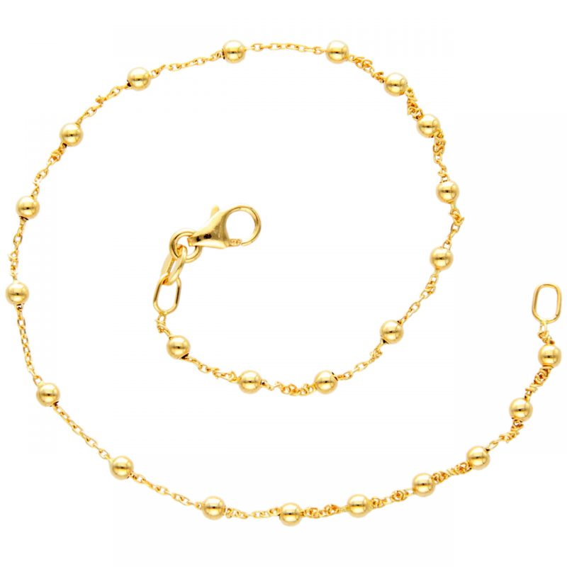 Ankle bracelet yellow gold
