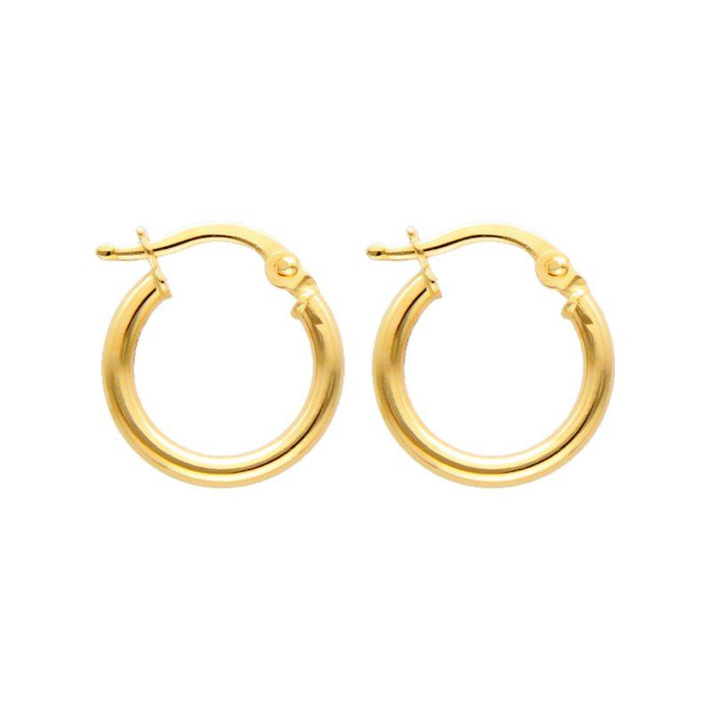 Hoop Earrings yellow gold D10