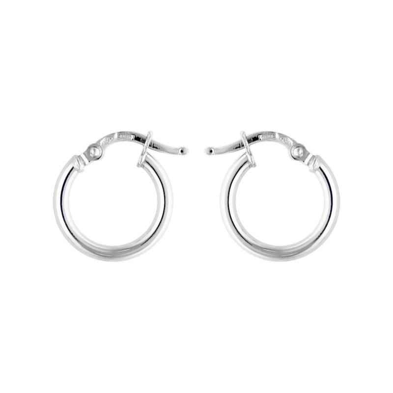 Hoop Earrings white gold D10