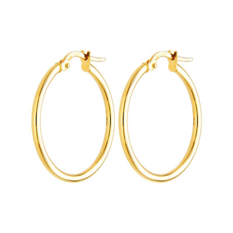 Hoop Earrings yellow gold D20