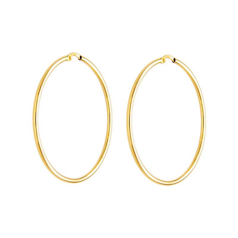 Hoop Earrings yellow gold D40