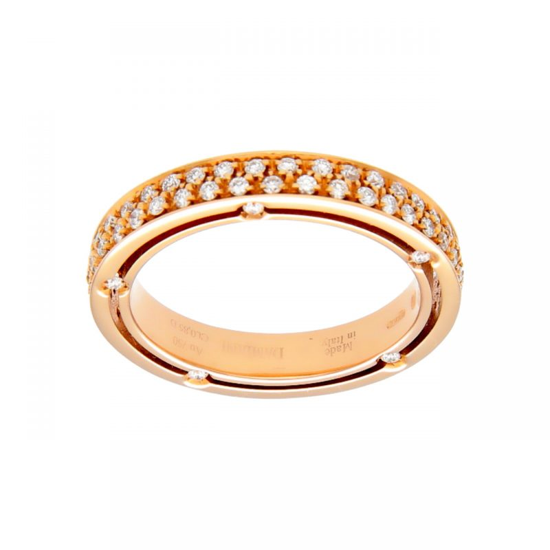 Damiani Rose gold ring with diamonds 0,85 ct