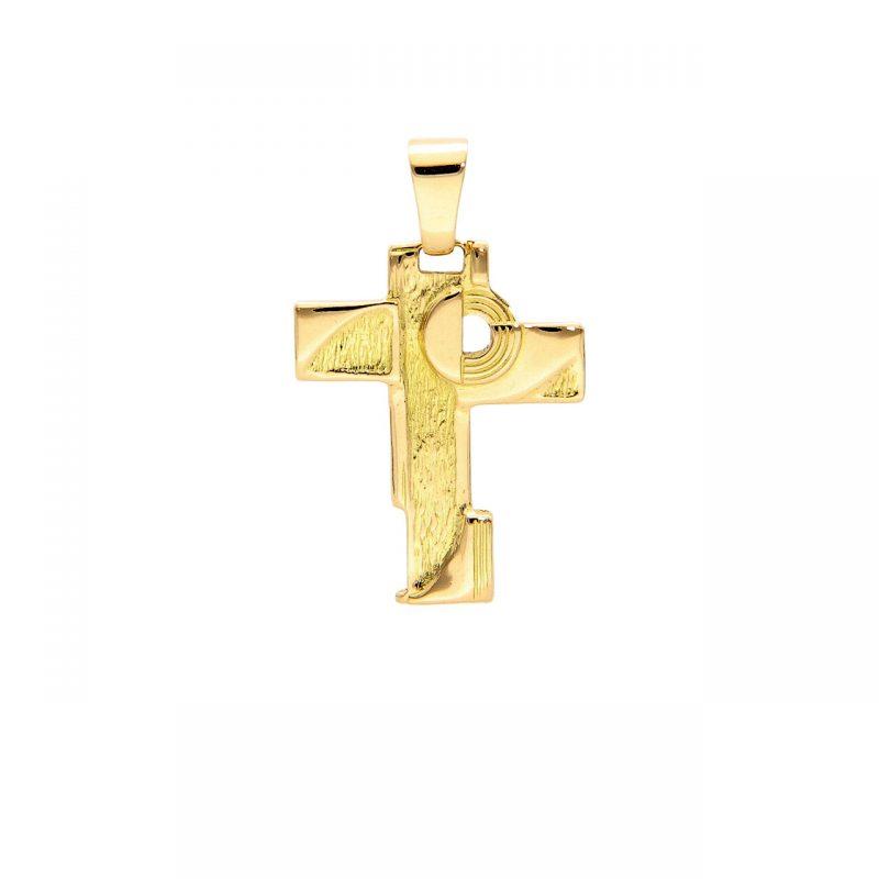 Cruz colgante oro amarillo