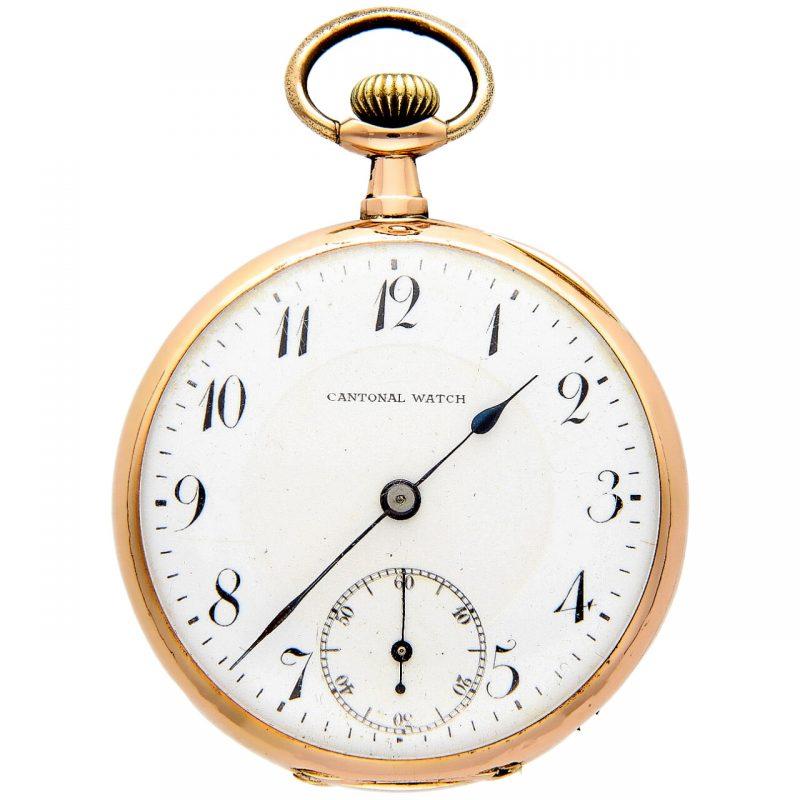 Cantonal Watch Taschen-Uhr 1910 aus Gelbgold