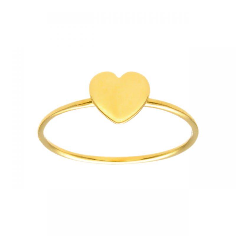 Herz-Ring aus Gelbgold