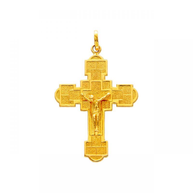Crucifix pendant yellow gold