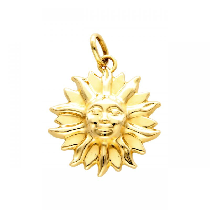 Sonnenanhänger aus Gelbgold
