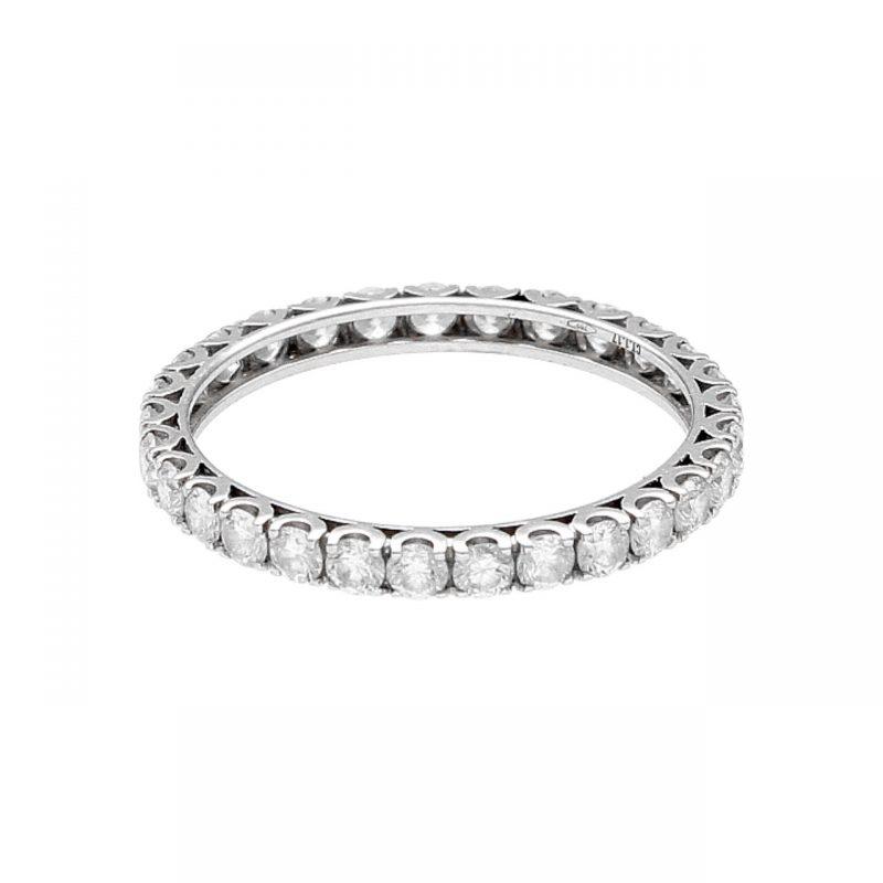 Memory Ring aus Weißgold mit Diamanten 1.17 ct VS1-G