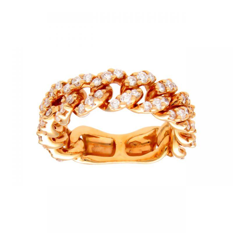 Rosègoldring mit natürlichen Diamanten 2.34 ct