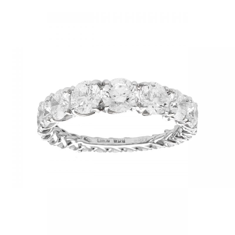 Eternity Ring Scalar Grace white gold and Diamonds 3.54 ct