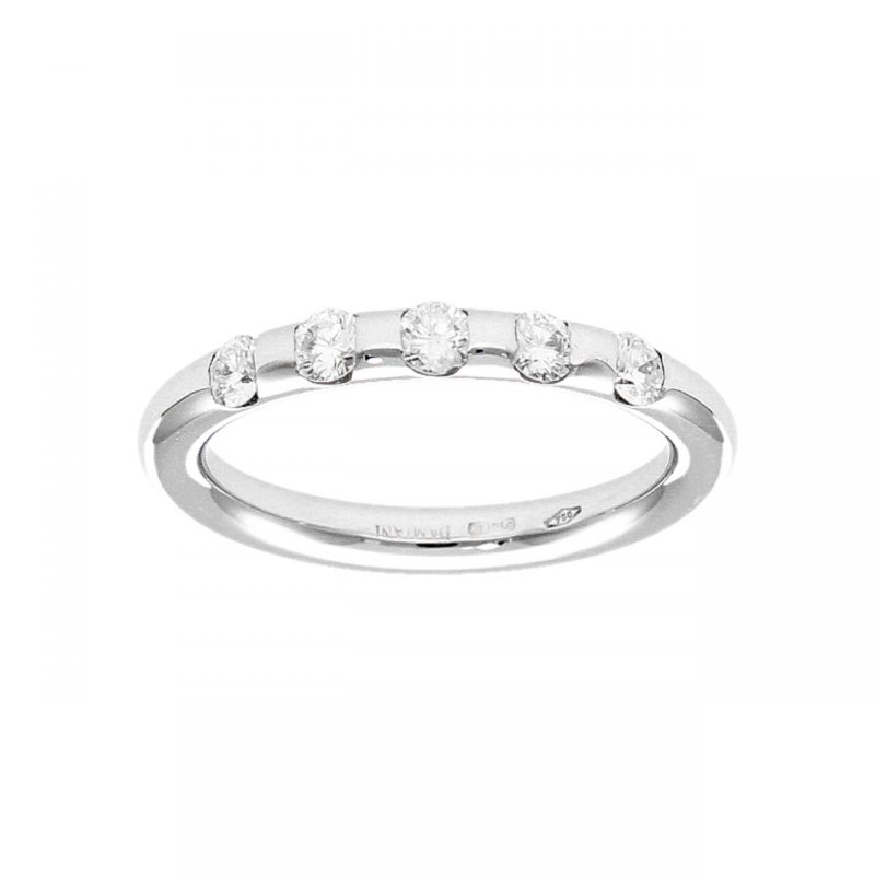 Damiani ring white gold with diamonds