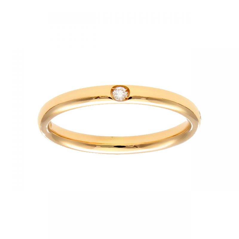 Anello Pomellato Lucciole in oro rosa con Diamante