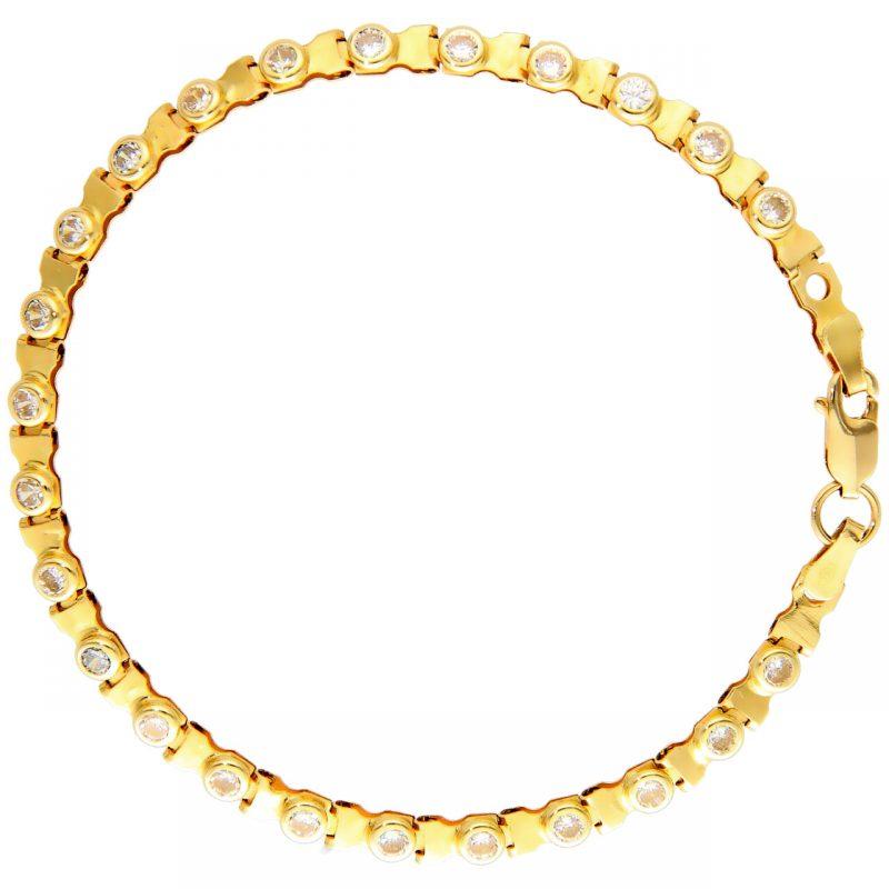 Tennis oro amarillo y circon