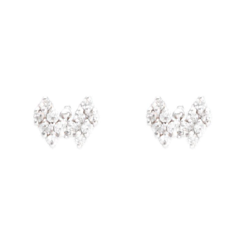Schmetterlings-Ohrringe aus Weißgold mit Zirkonen