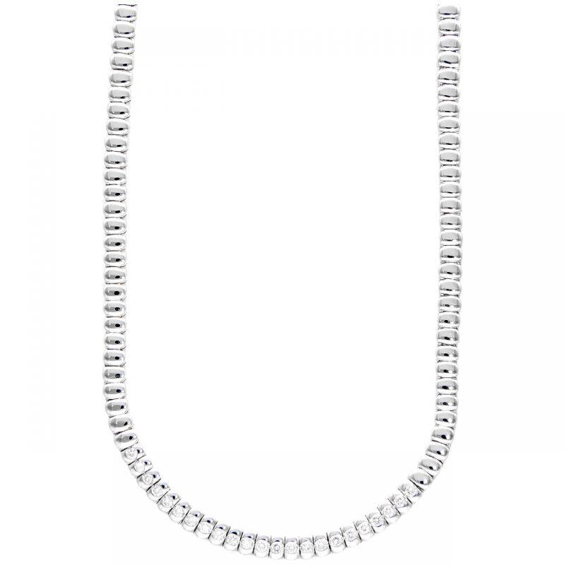 Collier Tennis in oro bianco con Diamanti 0,92 ct