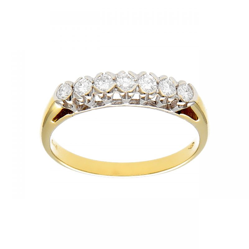 RingWeiß und Gelbgold mit Diamanten 0.45 ct