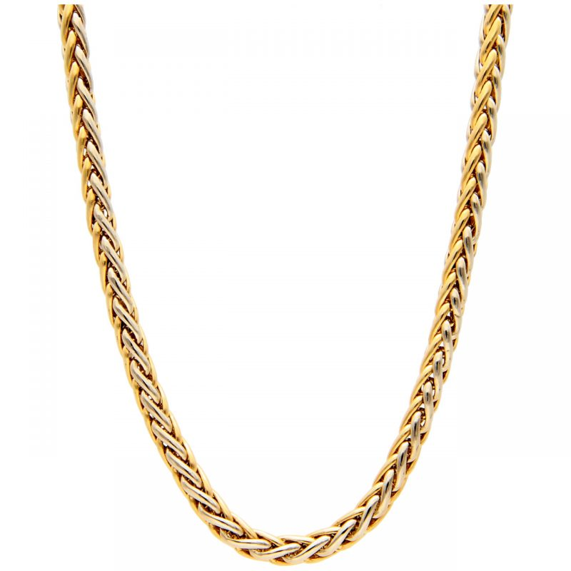 Urbano necklace white and yellow gold 45 cm