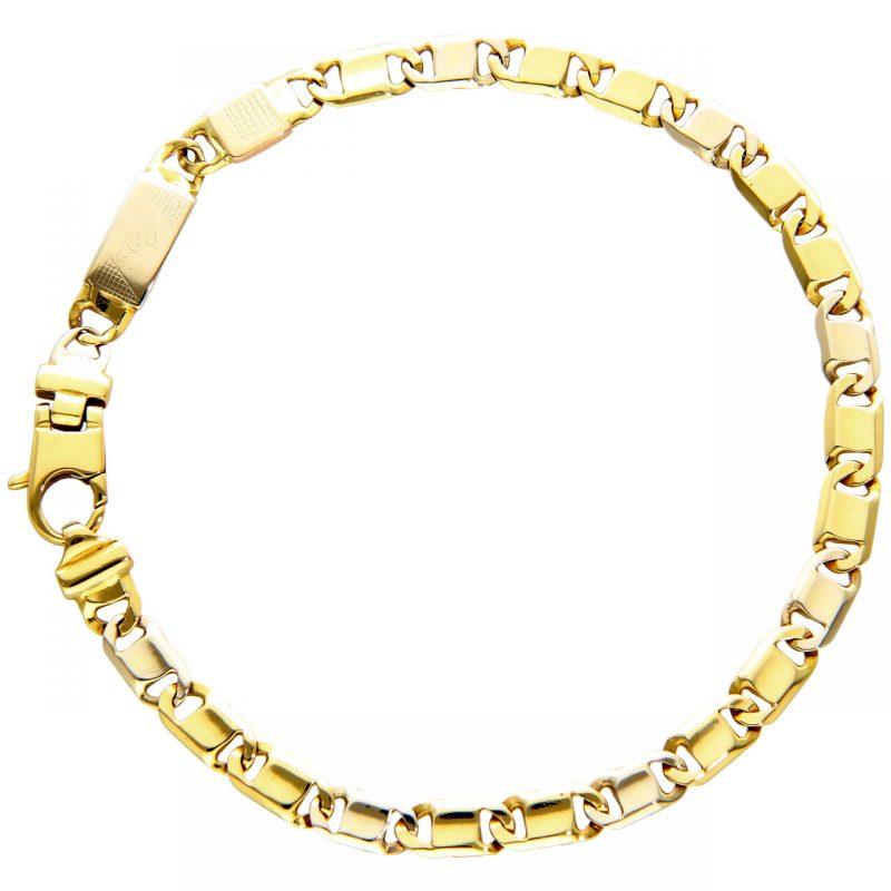 Raika Armband aus Weiß und Gelbegold 22 cm