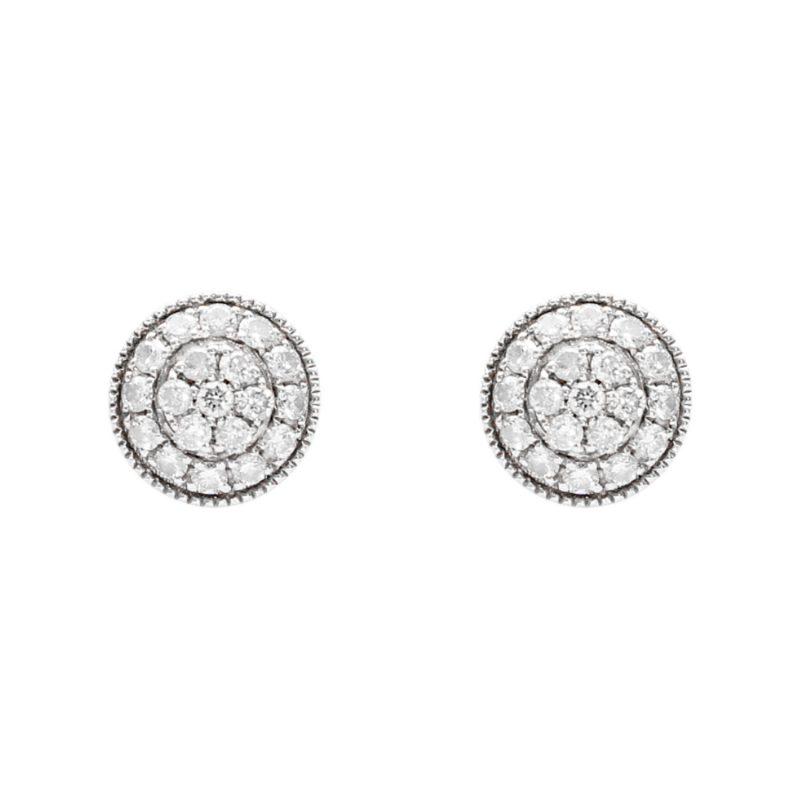 Weißgold-Ohrringe mit Diamanten 0.76 ct