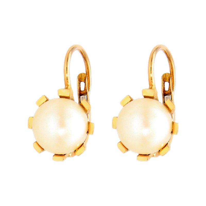 Rosé gold earrings with pearl